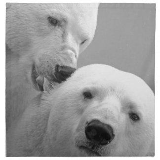 Den gulliga polara björnen kopplar ihop tygservett