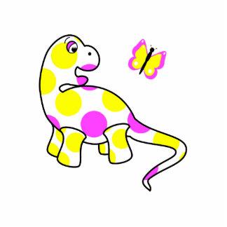 Den gulliga polkaen pricker Dinosaurprydnaden Photo Sculptures