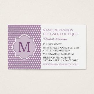 Den gulliga purpurfärgade polkaen pricker med visitkort