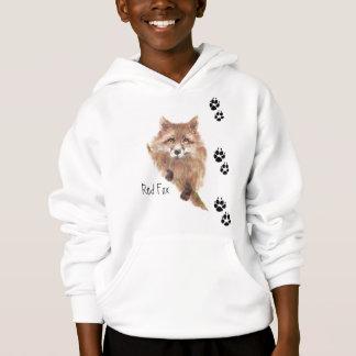 Den gulliga räven spårar den djura hoodien t-shirt