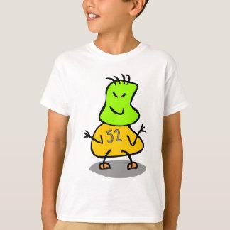 Den gulliga röda ungeroboten, gröntsolbränna, t-shirt