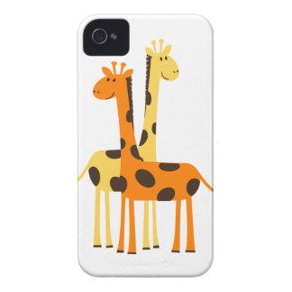 Den gulliga roliga giraffet parar iPhone 4 hud