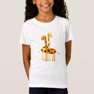 Den gulliga roliga giraffet parar t-shirt
