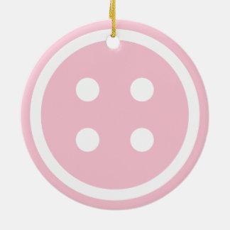 Den gulliga rosa sömnaden knäppas julgransprydnad keramik