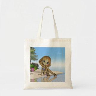 den gulliga stranden hänger lös, samlingen för moo tygkasse