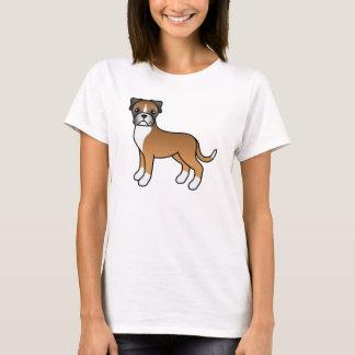 Den gulliga tecknaden lismar boxarehunden t shirt