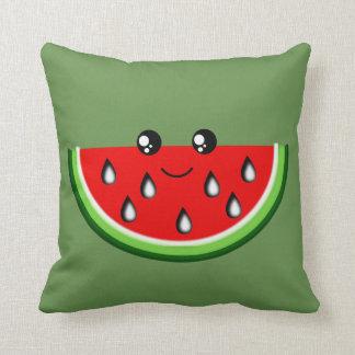 Den gulliga vattenmelonen dämpar 41 x 41 cm kudde