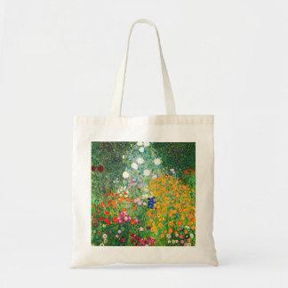 Den Gustav Klimt blomsterträdgårdtotot hänger lös Budget Tygkasse