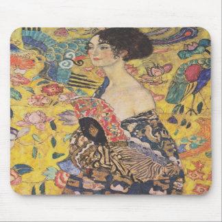 Den Gustav Klimt damen med fläktmusen vadderar Musmattor