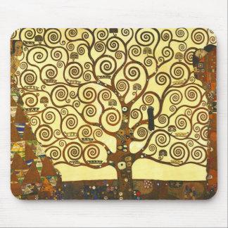 Den Gustav Klimt livets trädmusen vadderar Mus Mattor