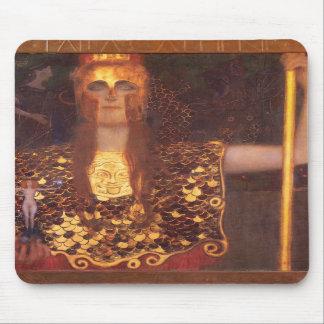 Den Gustav Klimt Minerva Pallas Athena musen vadde Mus Mattor