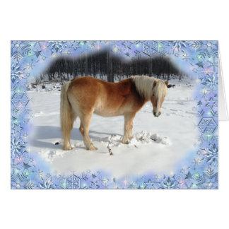 Den Haflinger hästen Julhälsningar kortet Hälsningskort