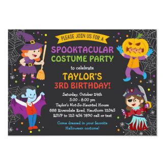 Den Halloween födelsedaginbjudan, dräktparty, 12,7 X 17,8 Cm Inbjudningskort