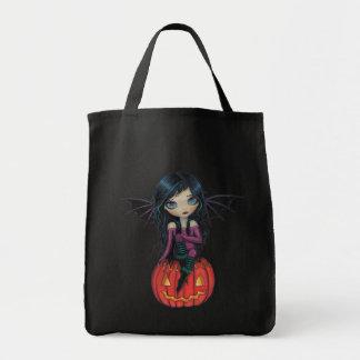 Den Halloween för vampyren för pumpaskälmskt natur Mat Tygkasse
