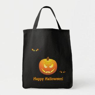 "Den Halloween jack o lantern ""trick eller Tygkasse"