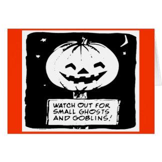 Den Halloween Pumpkn elakt troll och spöken Hälsningskort