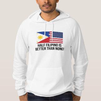 Den halva filippinen är bättre än inga tröja med luva