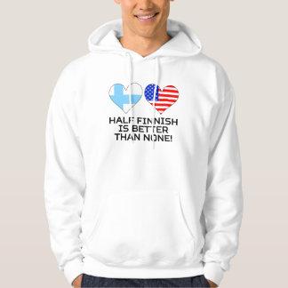 Den halva finskan är bättre än inga sweatshirt