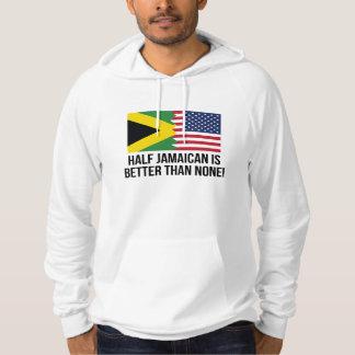 Den halva jamaikanen är bättre än inga tröja med luva