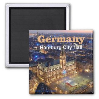 Den Hamburg Tysklandet reser fotosouvenirmagneter