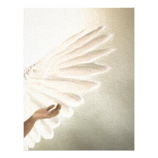 Den härliga ängeln påskyndar gåvan & befordrings- brevhuvud