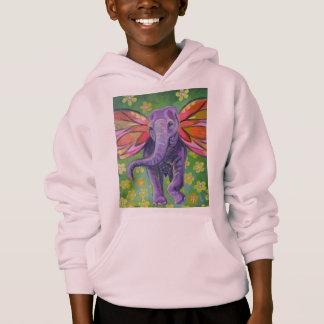 Den härliga elefanten avbildar hoodien tröja