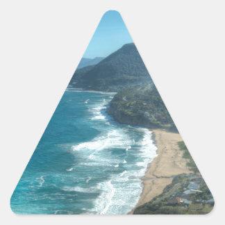 Den härliga kusten av Queensland, Australien Triangelformat Klistermärke