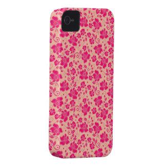 den härliga rosan blommar vektorkonst Case-Mate iPhone 4 skydd