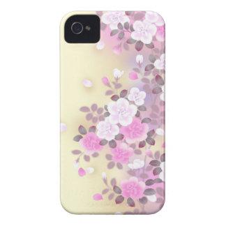Den härliga rosan blommar vektorkonst iPhone 4 hud