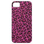 Den härliga shock rosaleoparden flår glittersken iPhone 5 cases