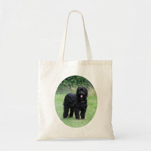 Den härliga svart totot för Briard hundshopping hä Tote Bags