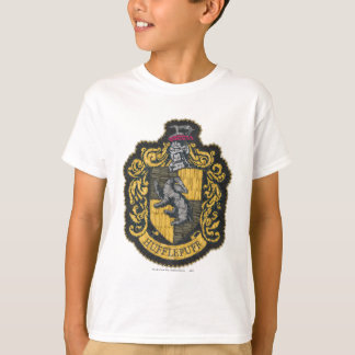 Den Harry Potter | Hufflepuff vapenskölden lappar Tee Shirt