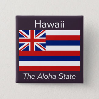 Den hawaianska flagga knäppas standard kanpp fyrkantig 5.1 cm