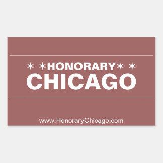 Den heders- Chicago bruna gatan undertecknar Rektangulärt Klistermärke