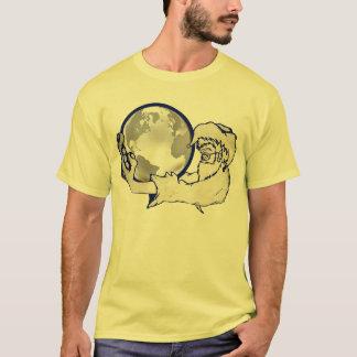 den hela världen i apor räcker t-shirt