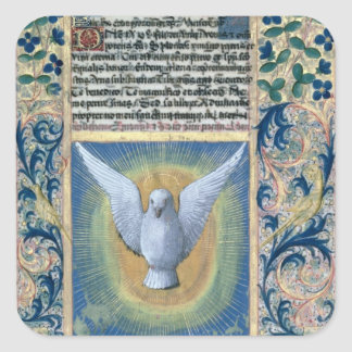 Den heliga anden fyrkantigt klistermärke