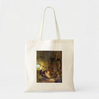 Den heliga familjen av Rembrandt Harmenszoon skåpb Tygkasse