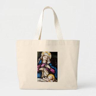 Den heliga familjen som visar Madonna och barnet Tygkassar