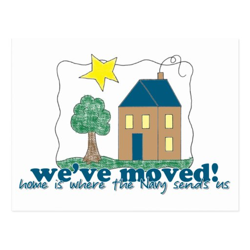 Den hem- vi har flyttat… är var marinen överför os vykort