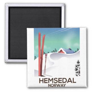Den Hemsedal norgen Ski reser affischen Magnet
