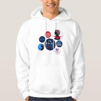 Den Hillary 2016 kampanjen knäppas den Hooded Sweatshirt Med Luva
