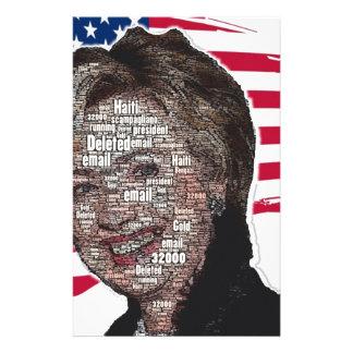 Den Hillary e-postscamen avbildar Brevpapper
