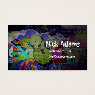 Den Hiphop dansare eller grafittienheten målar Visitkort