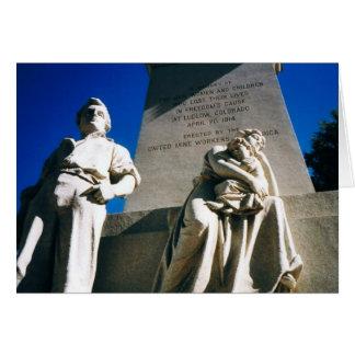 Den historiska Ludlow massakern av April 20, 1914 Hälsningskort
