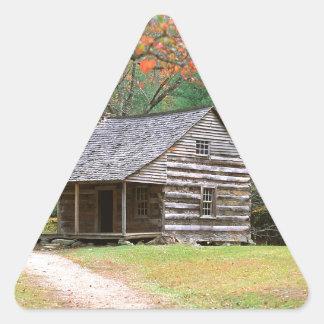 Den historiska platsen loggar kabinen i rökigt triangle stickers