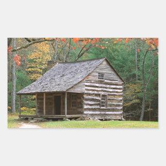 Den historiska platsen loggar kabinen i rökigt retangel klistermärke