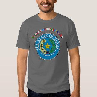 Den historiska Texas flaggor med förseglar T Shirt