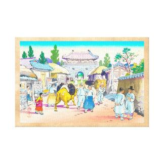 Den Hiyoshi Mamoru koreanen marknadsför japansk la Canvastryck