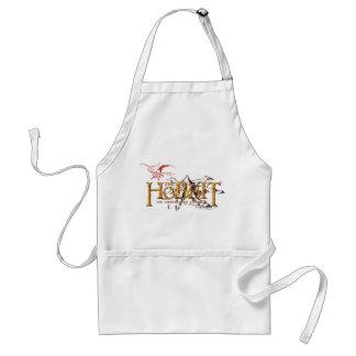 Den Hobbit logotypen över berg Förkläde