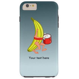 Den höga bananen, som älskar Plaing, trummar Tough iPhone 6 Plus Skal